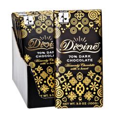DIVINE 70% DARK CHOCOLATE 3.5 OZ BAR