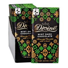 DIVINE DARK CHOCOLATE MINT 3.5 OZ BAR