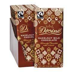 DIVINE MILK CHOCOLATE HAZELNUT 3.5 OZ BAR