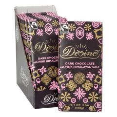 DIVINE DARK CHOCOLATE WITH PINK HIMALAYAN SALT 3.5 OZ BAR
