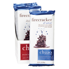 CHUAO DARK CHOCOLATE FIRECRACKER 2.8 OZ BAR