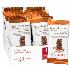 CHUAO MINI MILK CHOCOLATE BACONLUXIOUS 0.39 OZ BAR