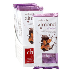 CHUAO DARK CHOCOLATE OOH AHH ALMOND 2.8 OZ BAR