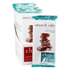 CHUAO MILK CHOCOLATE SWEET AND SALTY 2.8 OZ BAR
