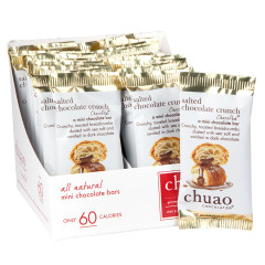 CHUAO MINI DARK CHOCOLATE SALTED CHOCOLATE CRUNCH 0.39 OZ BAR