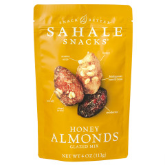 SAHALE GLAZED HONEY ALMONDS MIX 4 OZ POUCH