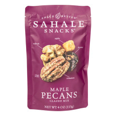 SAHALE GLAZED MAPLE PECANS 4 OZ POUCH