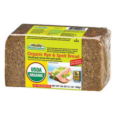 MESTEMACHER ORGANIC RYE AND SPELT BREAD 17.6 OZ