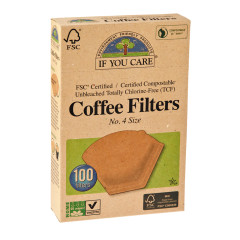 IF YOU CARE # 4 COFFEE FILTERS 100 CT BOX