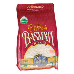 LUNDBERG ORGANIC BASMATI WHITE RICE 32 OZ BAG
