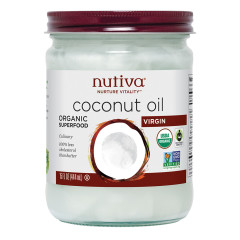 NUTIVA VIRGIN ORGANIC COCONUT OIL 14 OZ JAR