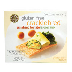 NATURAL NECTAR SUN DRIED TOMATO AND OREGANO CRACKLEBRED 3.5 OZ BOX