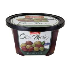 CASTELLA OLIVE MEDLEY 12 OZ DELI CUP