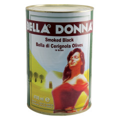 BELLA DONNA SMOKED BLACK CERIGNOLA OLIVES