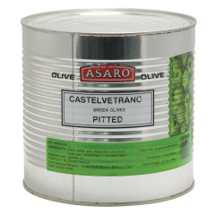 PARTANNA CASTELVETRANO GREEN PITTED OLIVES 5.07 LB CAN