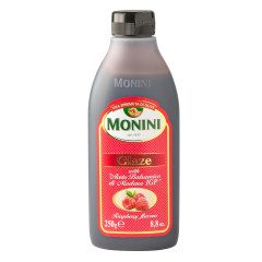 MONINI RASPBERRY FLAVORED BALSAMIC GLAZE 8.8 OZ BOTTLE