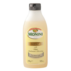 MONINI GLAZE WITH WHITE BALSAMIC DRESSING 8.8 OZ BOTTLE