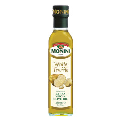 MONINI WHITE TRUFFLE FLAVORED EXTRA VIRGIN OLIVE OIL 250 ML BOTTLE