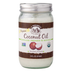 LA TOURANGELLE ORGANIC UNREFINED COCONUT OIL 14OZ JAR