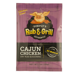 DIMPLY'S CAJUN CHICKEN DRY RUB 1 OZ BAG