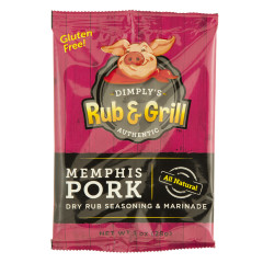 DIMPLY'S MEMPHIS PORK DRY RUB 1 OZ BAG