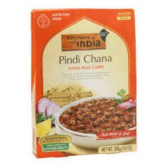 KITCHENS OF INDIA MILD PINDI CHANA CHICK PEAS CURRY 10 OZ