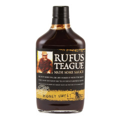 RUFUS TEAGUE HONEY SWEET BBQ SAUCE 16 OZ BOTTLE