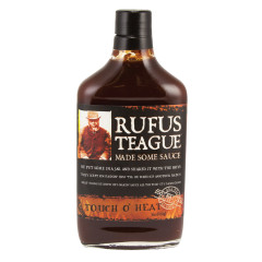 RUFUS TEAGUE TOUCH O'HEAT BBQ SAUCE 16 OZ BOTTLE