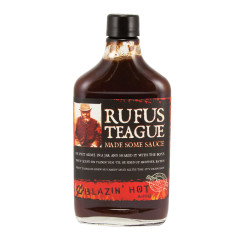 RUFUS TEAGUE BLAZIN' HOT BBQ SAUCE 16 OZ BOTTLE