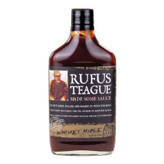 RUFUS TEAGUE WHISKEY MAPLE BBQ SAUCE 16 OZ BOTTLE
