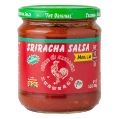 HUY FONG MEDIUM SRIRACHA SALSA 15.5 OZ JAR