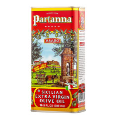 PARTANNA SICILIAN EXTRA VIRGIN OLIVE OIL 16.9 OZ TIN