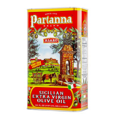 PARTANNA SICILIAN EXTRA VIRGIN OLIVE OIL 3 LITER TIN