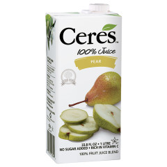 CERES PEAR JUICE 33.8 OZ BOX