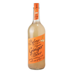 BELVOIR ORGANIC GINGER BEER 25.4 OZ BOTTLE
