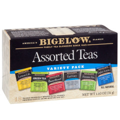 BIGELOW ASSORTED TEAS 18 CT BOX