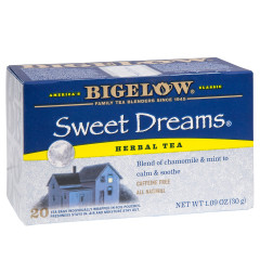 BIGELOW SWEET DREAMS HERBAL TEA 20 CT BOX