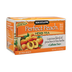 BIGELOW PERFECT PEACH HERB TEA 20 CT BOX