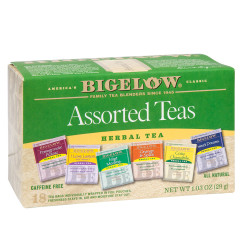BIGELOW ASSORTED HERBAL TEA 18 CT BOX