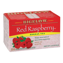 BIGELOW RED RASPBERRY HERBAL TEA 20 CT BOX