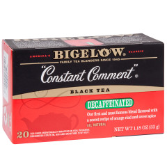 BIGELOW DECAF CONSTANT COMMENT TEA 20 CT BOX