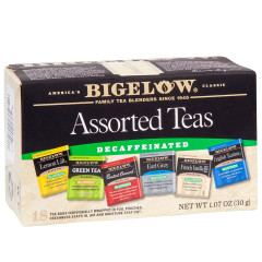 BIGELOW DECAF ASSORTED TEAS 18 CT BOX