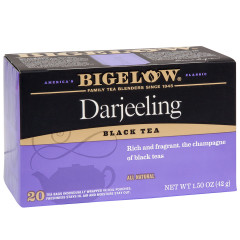BIGELOW DARJEELING BLACK TEA 20 CT BOX