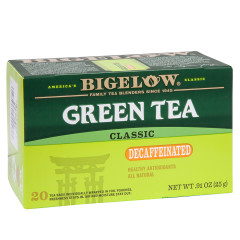 BIGELOW DECAF GREEN TEA 20 CT BOX