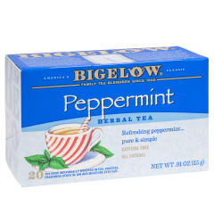 BIGELOW PEPPERMINT HERBAL TEA 20 CT BOX