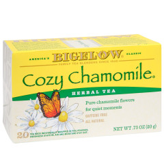 BIGELOW COZY CHAMOMILE HERBAL TEA 20 CT BOX