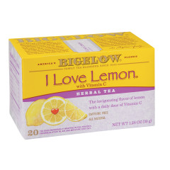 BIGELOW I LOVE LEMON HERBAL TEA 20 CT BOX