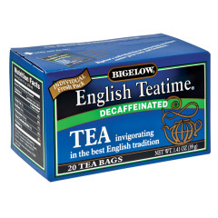 BIGELOW DECAF ENGLISH TEATIME TEA 20 CT BOX