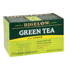 BIGELOW GREEN TEA WITH LEMON 20 CT BOX