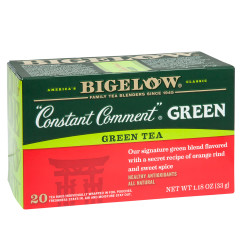 BIGELOW CONSTANT COMMENT GREEN TEA 20 CT BOX